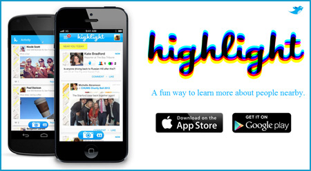 Highlight | iPhone & Android App - A fun way to learn more about people nearby